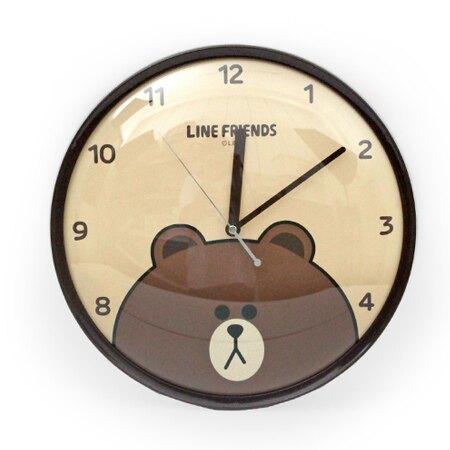 時鐘 愛不釋手LINE熊大圖案圓型掃秒掛鐘 卡通可愛居家風 台灣製造【NE1522】創意家飾。手錶與流行飾品人氣店家柒彩年代的時尚手錶、時鐘/鬧鐘有最棒的商品。快到日本NO.1的Rakuten樂天市場