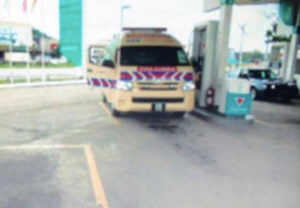 Ambulans yang mengangkut pasien tersebut.