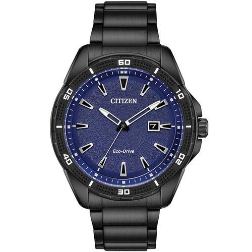 CITIZEN 星辰 Eco-Drive光動能 潮流時尚腕錶 AW1585-55L 深藍/黑 45mm 男錶
