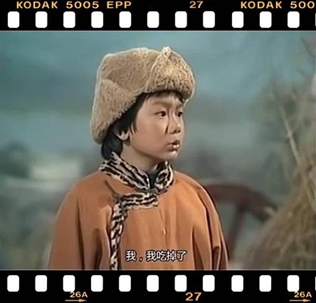 馮志豐在《射鵰英雄傳》飾演童年郭靖。(互聯網)