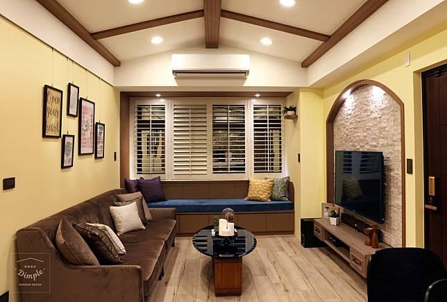 輕鬆舒適的客廳佈局