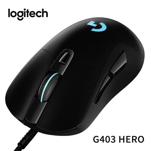 G403 透過新一代的 HERO 16K 感應器閃亮登場。準備迎接具有更高等級的 1:1 追蹤、100-16,000 最大 DPI 靈敏度範圍、以及零濾波、過濾和加速的滑鼠。 HERO 16K 感應器