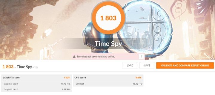 條件最為嚴格的Time Spy為1803分。