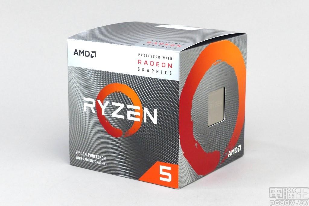 ▲ Ryzen 5 3400G 包裝樣式變成與第三代 Ryzen 桌上型處理器系列類似,一隅仍舊標示 Processor with Radeon Graphics。