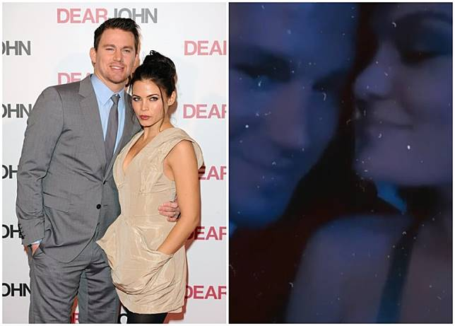 Channing與Jenna傾掂撫養權細節,Jessie(右)則上載與Channing恩愛的短片。