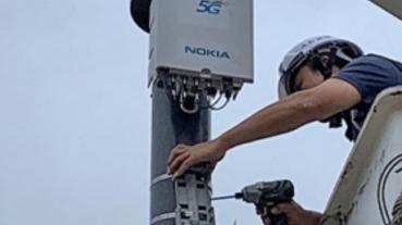 下載速度超過 900Mbps,中華電信、Nokia 攜手架設台灣首座 5G Small Cell 智慧路燈