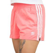 KUMO SHOES-ADIDAS ORINGLES 三葉草 三線 微高腰 側邊小開岔 運動休閒 短褲 粉橘 DH3199。人氣店家KUMO SHOES的ADIDAS有最棒的商品。快到日本NO.1的R