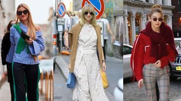 圍巾可以先收起來,今年毛衣流行「披著穿」更時尚!