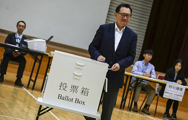 Hong Kong's government also wants district council elections that are fair, peaceful and productive