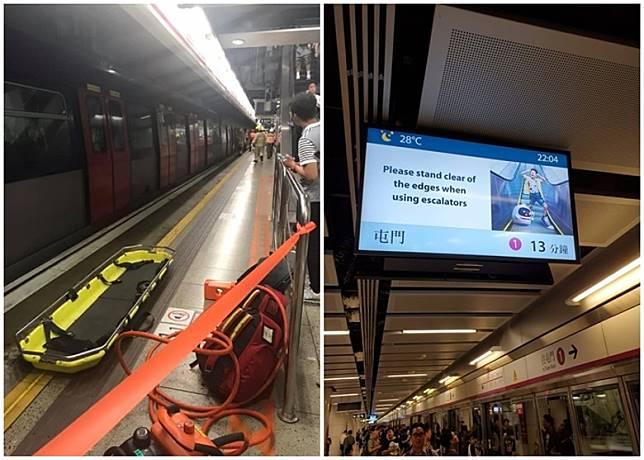 消防到場拯救,列車服務受阻。(互聯網)