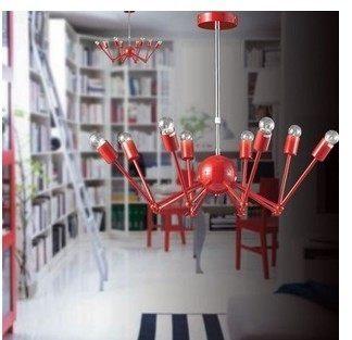 設計師美術精品館美式鄉村工業 複古loft 鐵藝餐廳吊燈 書房臥室黑寡婦吸頂吊燈