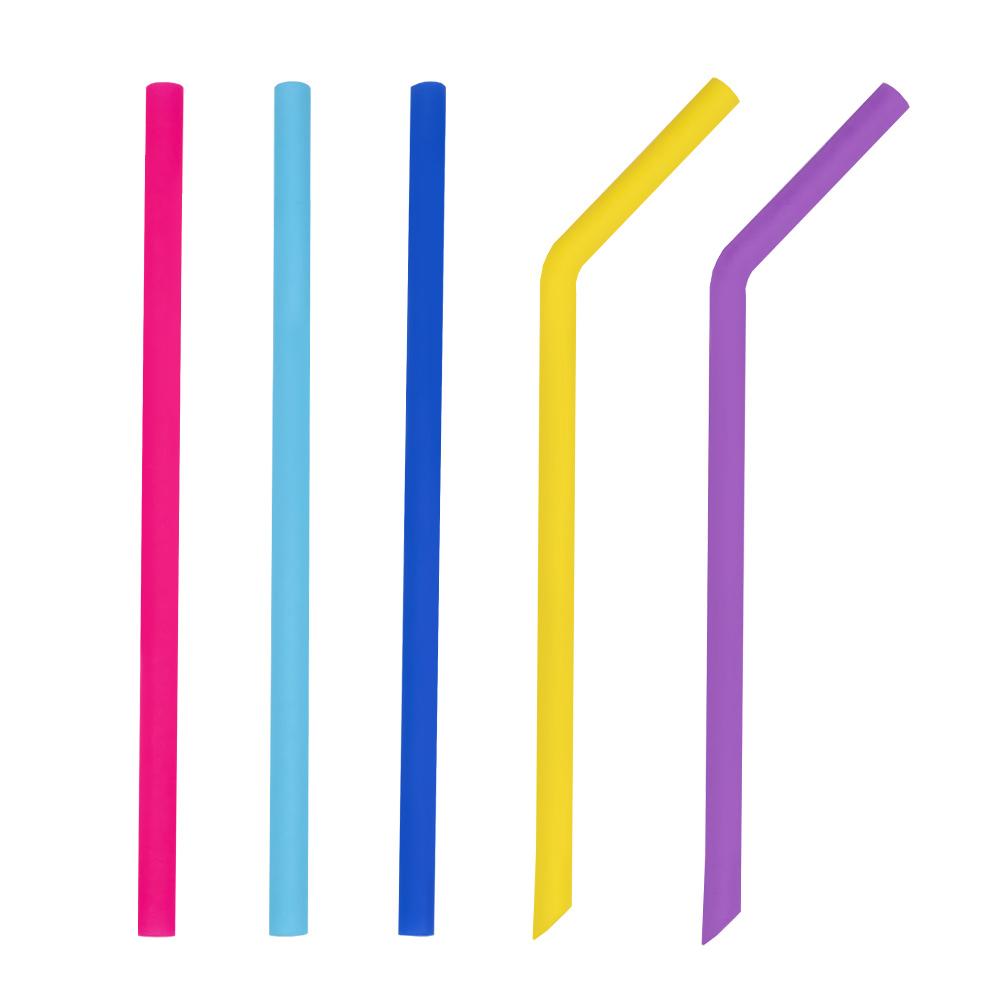 [sgs認證] 漢麟 矽膠吸管 食品級材質 珍奶吸管 直吸管+彎吸管 粗吸管 不含塑化劑耐高溫 環保吸管 寬口吸管