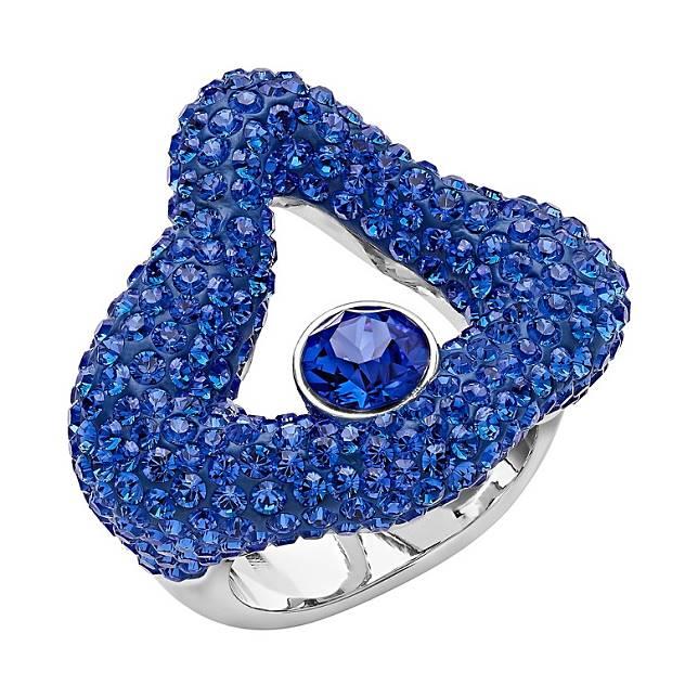 Atelier Swarovski Tigris帝王藍色水晶戒指(互聯網)