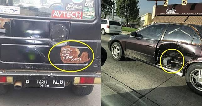 10 Cara lucu orang mengatasi kerusakan mobil ini kocak abis
