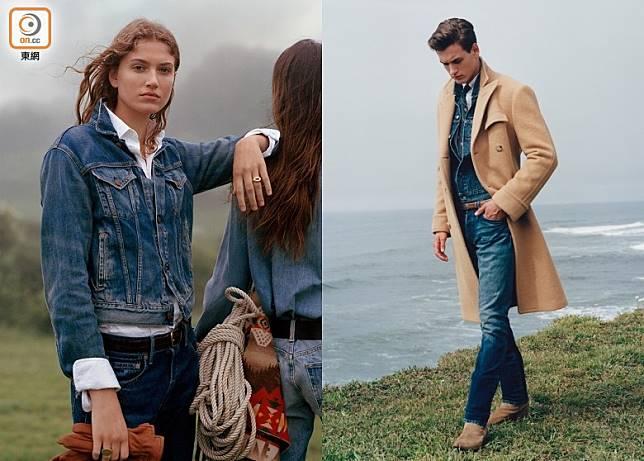 牛仔服飾一直是Ralph Lauren不可或缺的一環,「Wear Your Story」廣告企劃展示了品牌對牛仔服的重視。 (互聯網)
