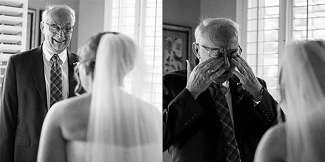 Begini Reaksi Haru Ayah saat Anak Gadisnya Menikah