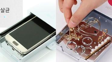 痘痘人必備!韓國Artbox「多功能手機消毒機」可以邊充電邊消毒,還能幫飾品、刷具殺菌!