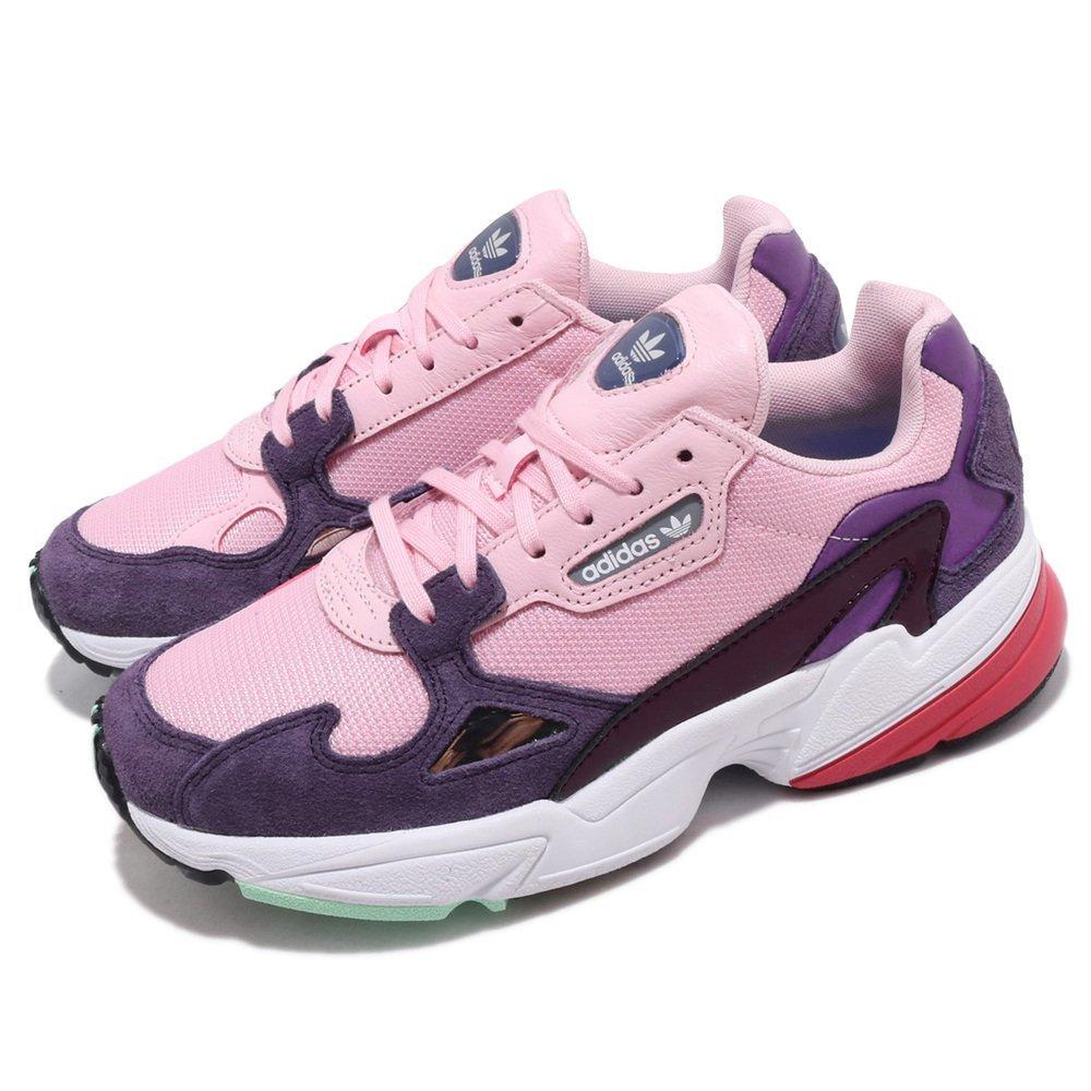 流行休閒鞋品牌:ADIDAS型號:BD7825品名:Falcon W配色:粉色,紫色