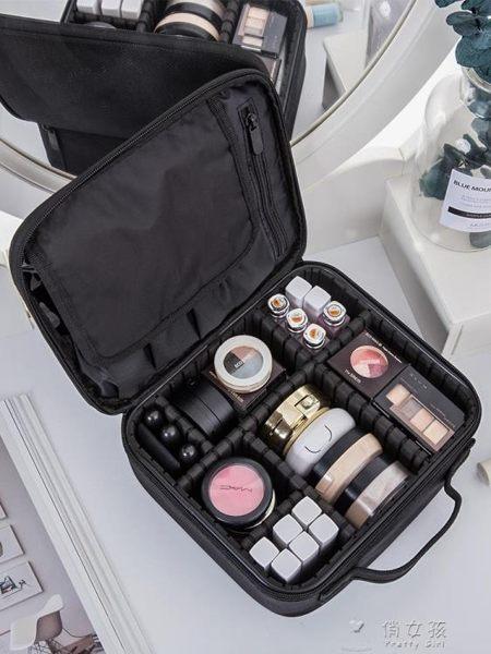 化妝包 化妝包女大容量多功能便攜ins風網紅旅行化妝箱專業化妝師跟妝包 俏女孩