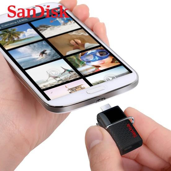 釋放記憶體空間以裝滿更多回憶 讓您可在支援 OTG 的 Android™ 智慧型手機、平板電腦1、PC 以及 Mac 電腦之間輕鬆迅速地傳輸檔案。SanDisk Ultra USB 3.0 雙用隨身碟