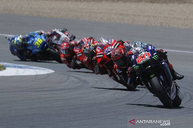 MotoGP Spanyol : Quartararo dan Miller bergantian pimpin balapan
