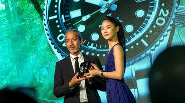 連防曬都不希望傷害海洋的鍾瑶 戴這隻錶一起潛水