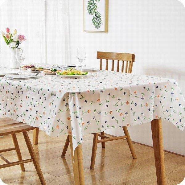 防油防水桌布 家用餐廳茶幾免洗長方形臺布田園餐桌布桌墊 黛尼時尚精品