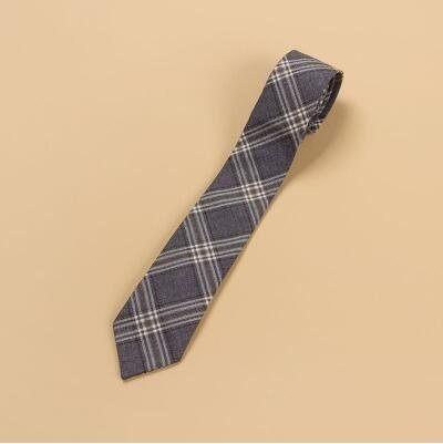 【梗豆物語】kyouko JK制服領結/領帶 格裙同柄 煙灰金格領結領帶(主圖款)
