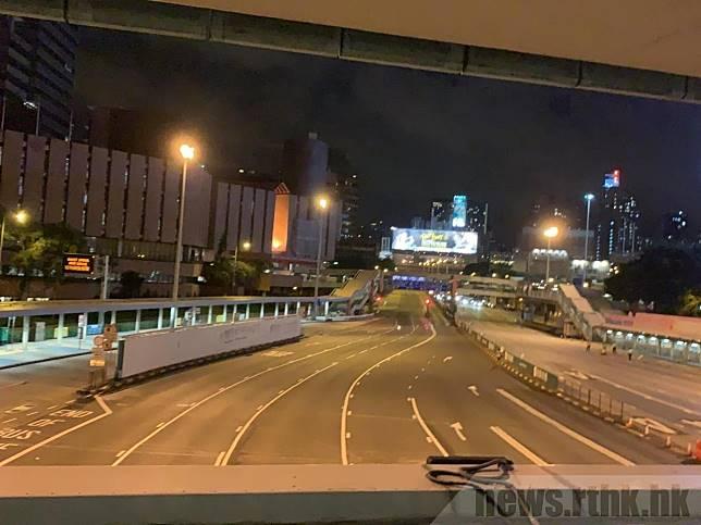 紅隧九龍及香港入口恢復通車。(港台圖片)
