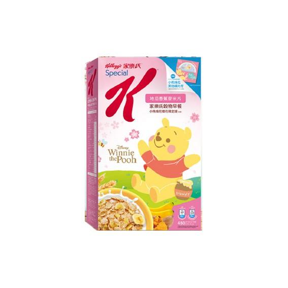 家樂氏穀物早餐 小熊維尼櫻花限定版-450g盒損(蝦皮團購免運)