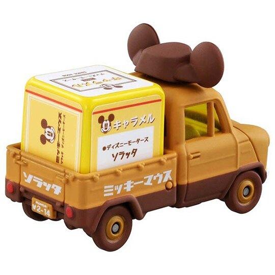 〔小禮堂〕迪士尼 米奇 TOMICA小汽車 造型牛奶糖貨車《棕黃》公仔.玩具.模型
