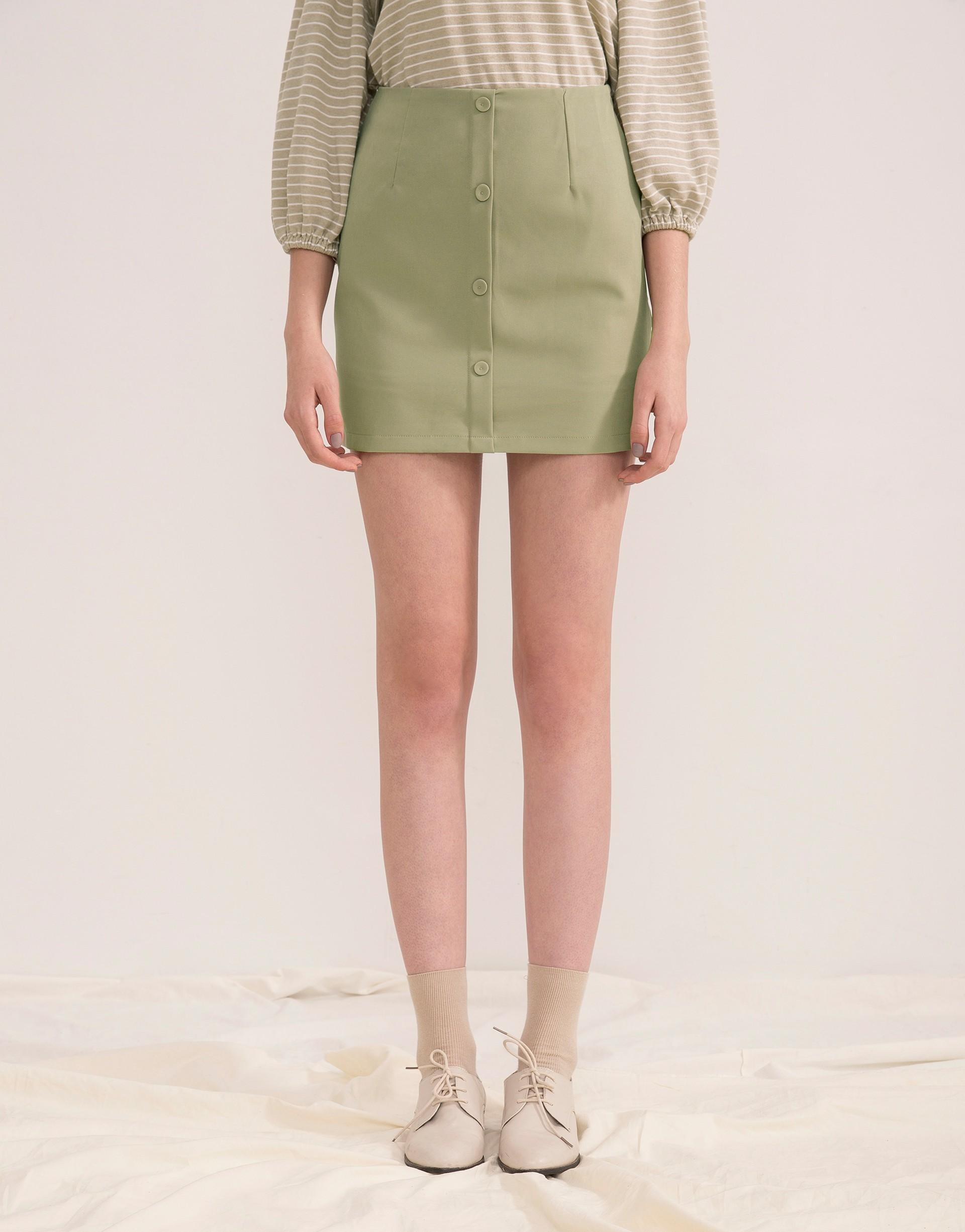 內層安全褲內裡/側開隱型拉鍊/A字裙修飾腿部線條