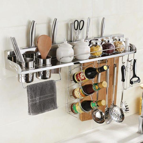 304不銹鋼廚房墻壁掛架掛墻置物架刀架調料架掛件收納架JD 寶貝計畫