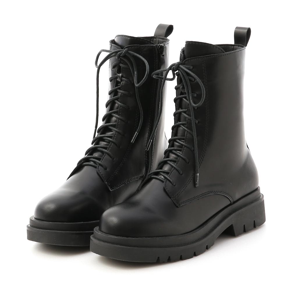 D+AF鬆糕底綁帶中筒馬汀靴 馬丁靴