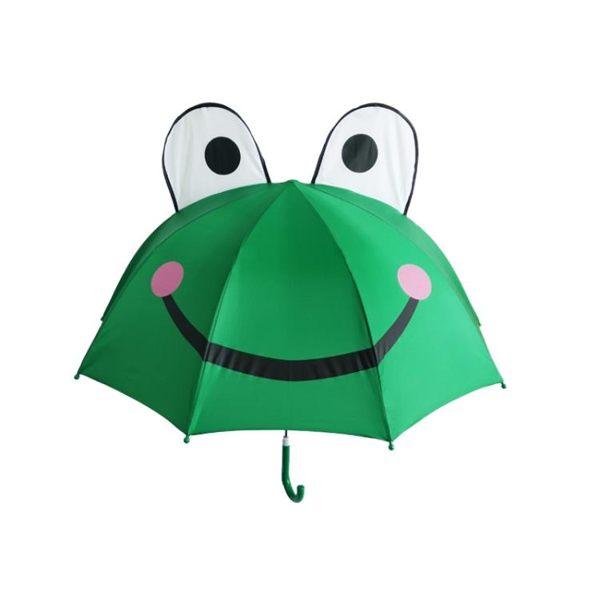 直立傘 小紅帽創意卡通兒童晴雨傘男女孩輕便長柄防紫外線陽傘青蛙傘 米希美衣