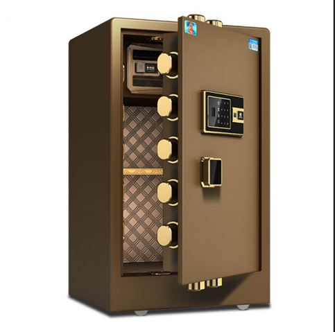 保險櫃 60/70/80cm家用防盜保險箱辦公小型全鋼指紋密碼隱形全能新款入墻正品辦公室保 ATF