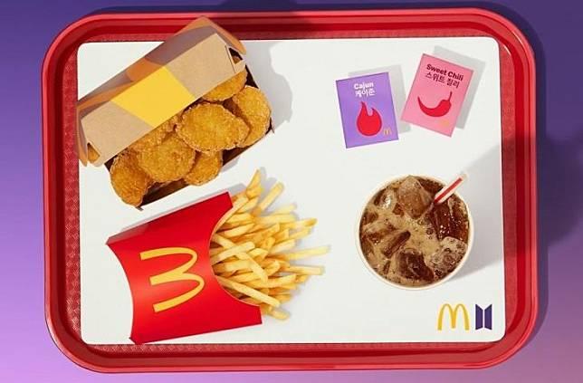 Kolaborasi antara McDonald's dengan BTS. (McDonald's)