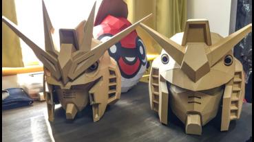 400日元材料製作瓦楞紙鋼彈頭盔