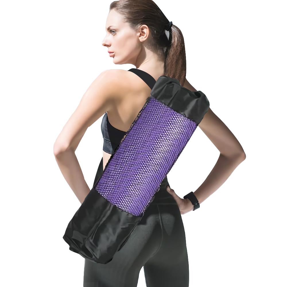 【lotus】透氣網狀瑜珈墊收納背袋材 質:尼龍、聚酯纖維尺 寸:約70cmx30cm直 徑:約19cm商品貨號:qe1f5