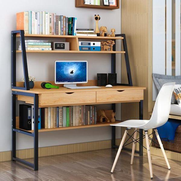 電腦桌臺式桌簡約現代辦公家用寫字臺簡易書架書桌組合臥室小桌子 ATF 魔法鞋櫃