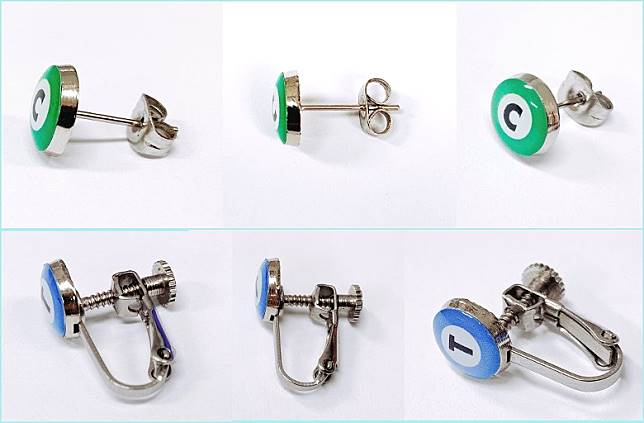 無論是耳環抑或夾耳耳環,其金屬部分特別以手術刀所使用的Surgical Stainless Steel來製作,將引致敏感的可能性減至最低。(互聯網)