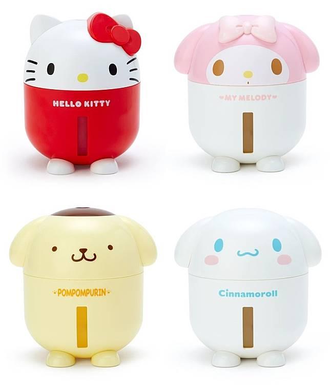 Sanrio USB加濕器 :利用超聲波原理,霧氣不熱,安全可靠。另外其靜音設計很適合在睡房,小孩房間及辦公室使用。(互聯網)