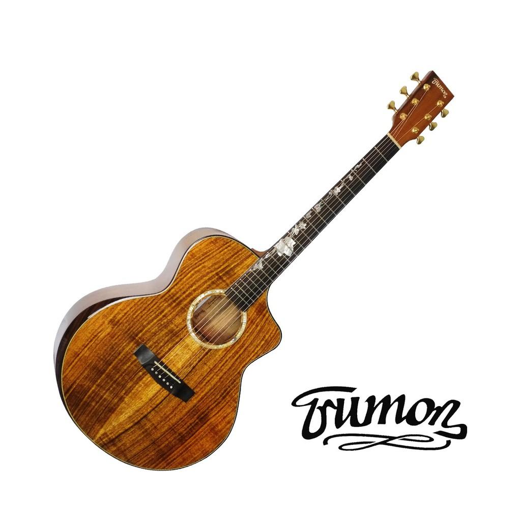 Trumon楚門吉他 40吋 Creeper 相思木 全單板 民謠吉他 木吉他 - 【黃石樂器】