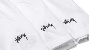 Stussy X Hanes V Neck t-shirt