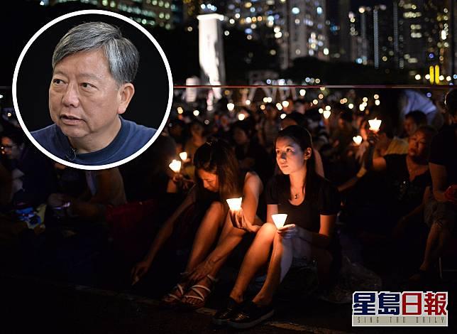 李卓人批評警方藉防疫打壓,指支聯會下午如常派發蠟燭進入維園。 資料圖片