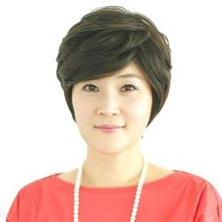 【米蘭精品】整頂假髮真髮絲-斜瀏海微捲短髮優質女假髮2色73vc30