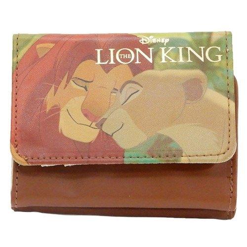 尼德斯Nydus 日本正版 迪士尼 獅子王 寫真系列 皮質 短皮夾 皮包 錢包