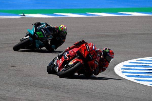 Aksi pembalap MotoGP di Sirkuit Jerez