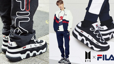 BTS X FILA 台灣就能買到!四雙FILA老爹鞋、三款經典上衣,想穿BTS同款免找代購!