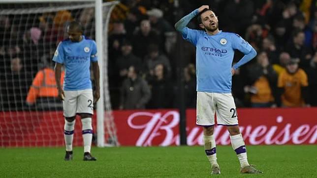 Ekspresi Pemain Manchester City Saat Takluk dari Wolverhampton
